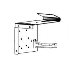 Suporte de rolo com montagem de parede para impressora de recibos Kiosk
