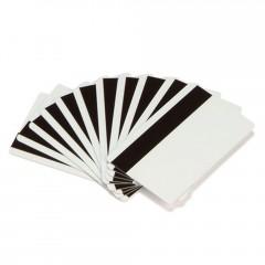 Cartão eco Zebra PVC branco com banda magnética