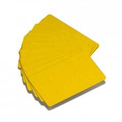 Cartão Zebra PVC amarelo